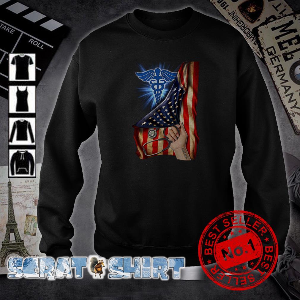 Nurse America Flag inside me sweater