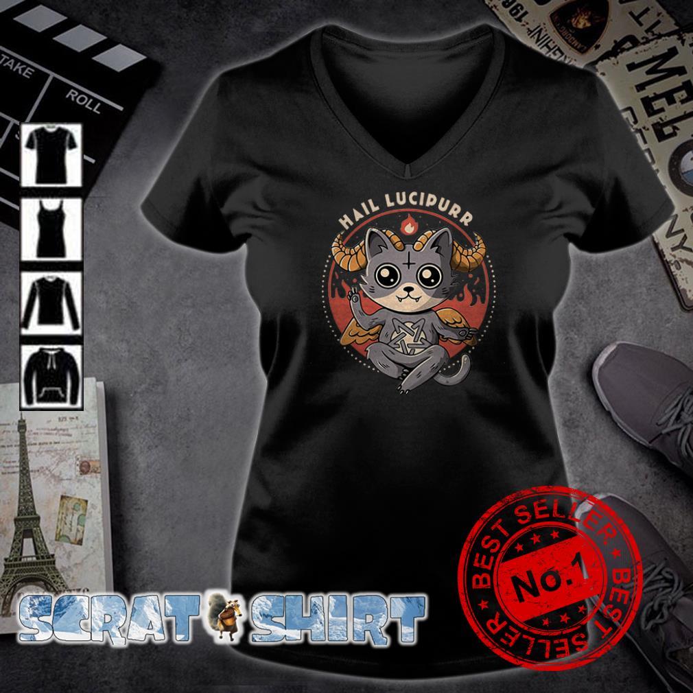 Satan Cat Hail Lucipurr v-neck t-shirt