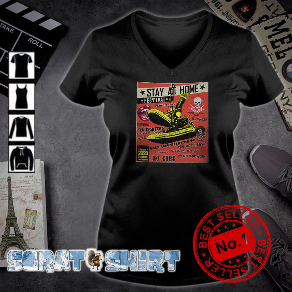 Stay At Home Festival The Coughspring No Cure v-neck t-shirt