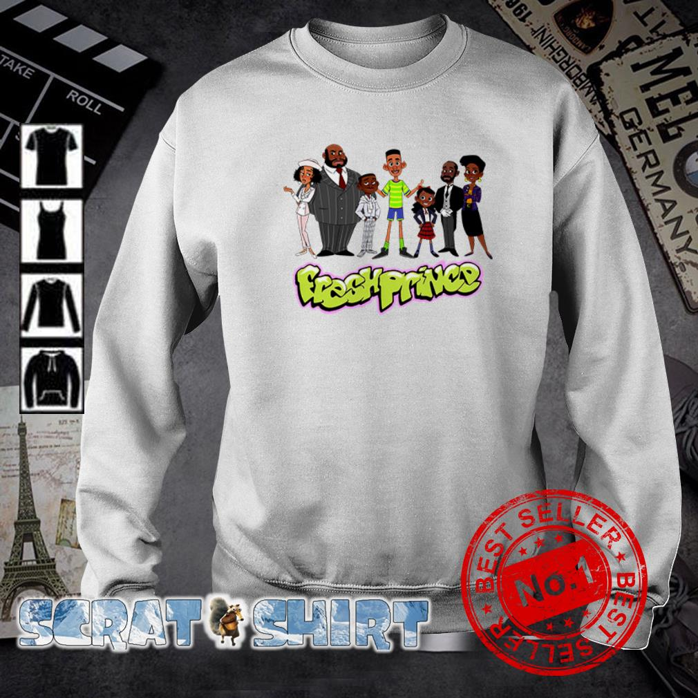 The Fresh Prince of Bel Air Characters cartoon sweater