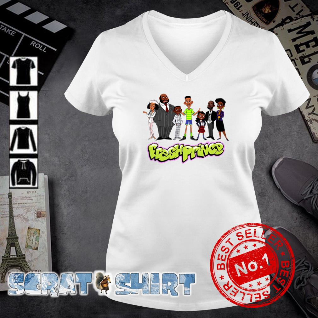 The Fresh Prince of Bel Air Characters cartoon v-neck t-shirt