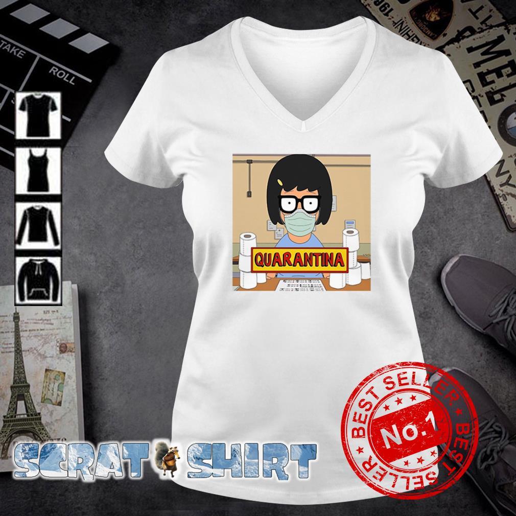 Tina Belcher stay home stay safe quarantina toilet paper v-neck t-shirt