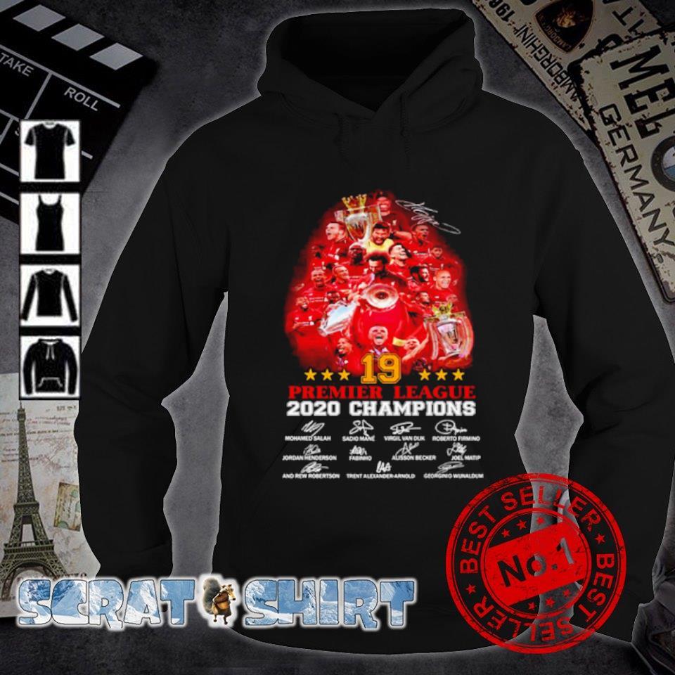 Liverpool 19 Premier League 2020 champions signature s hoodie