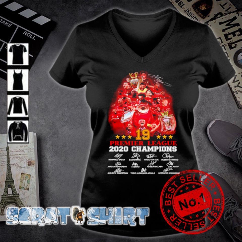 Liverpool 19 Premier League 2020 champions signature s v-neck t-shirt