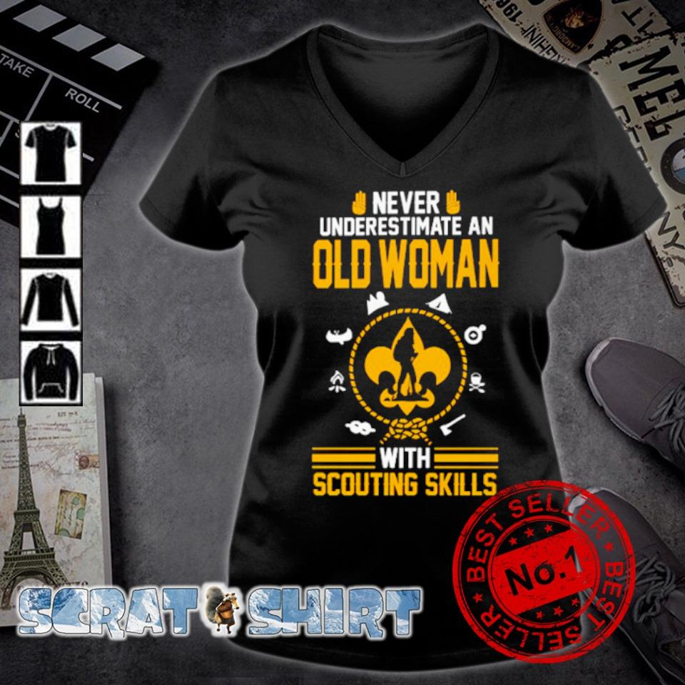 Never underestimate an Old Woman With Scouting Skills s v-neck t-shirt