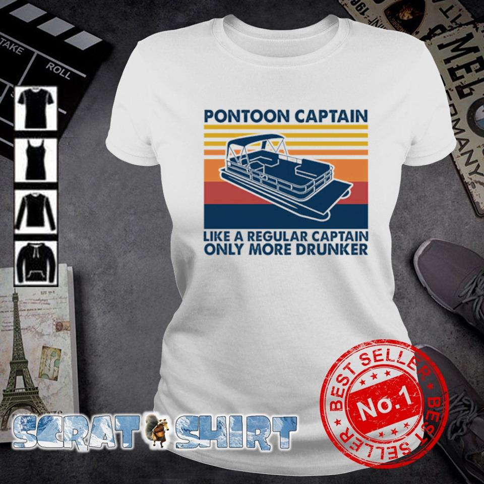 Pontoon Captain like a regular captain only more drunker vintage s ladies-tee
