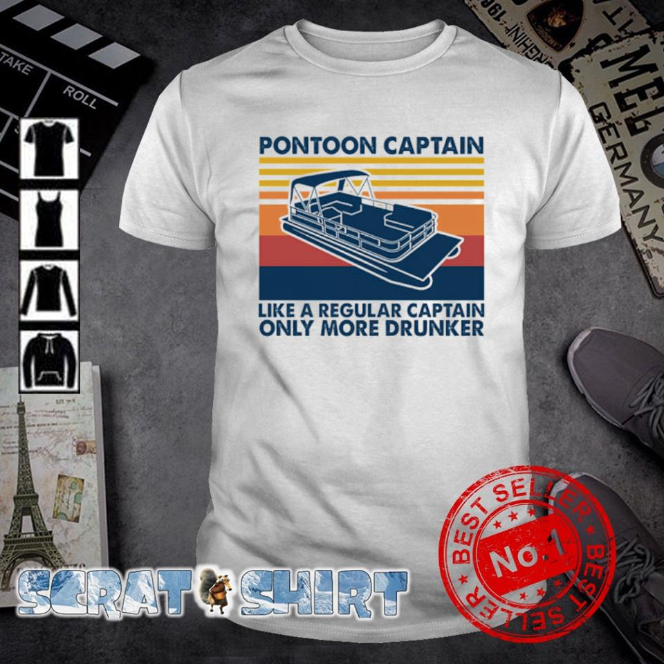 Pontoon Captain like a regular captain only more drunker vintage shirt