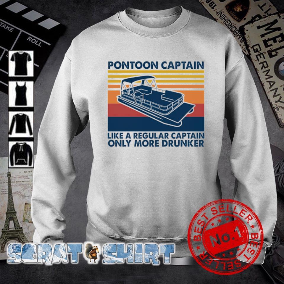 Pontoon Captain like a regular captain only more drunker vintage s sweater