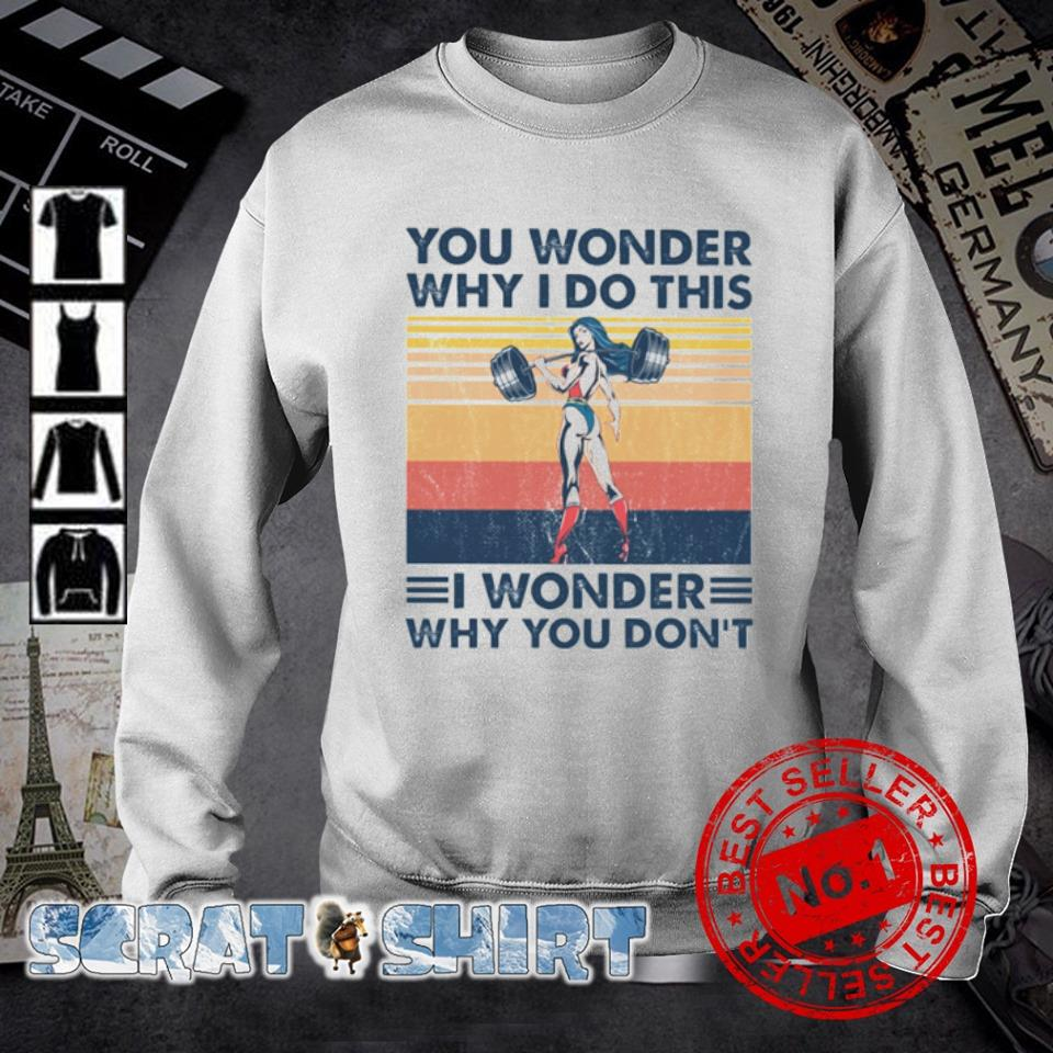 You Wonder Why I Do This I wonder why you don't vintage s sweater