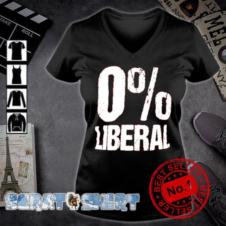 0% Liberal s v-neck t-shirt