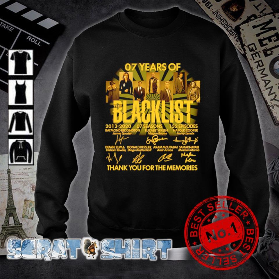 07 years of Blacklist thank you for the memories signature s sweater