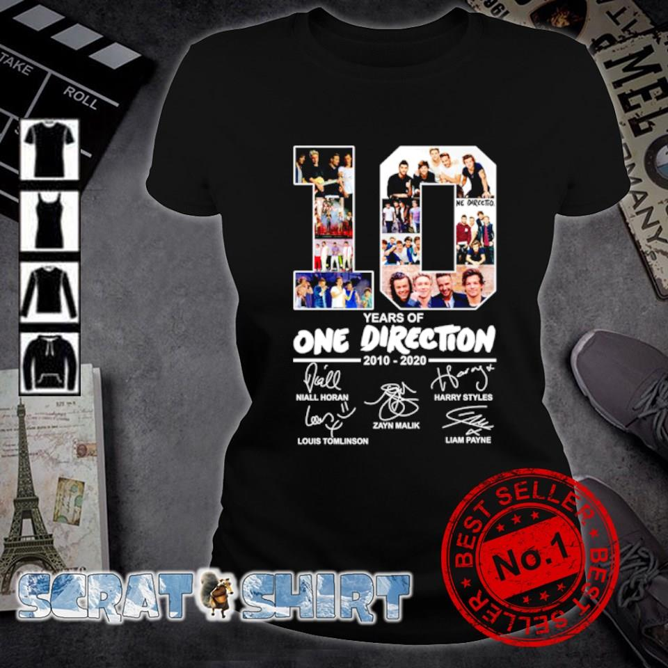 10 years of One Direction 2010 2020 signature s ladies-tee