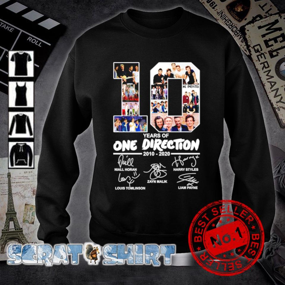 10 years of One Direction 2010 2020 signature s sweater