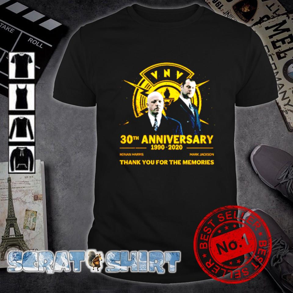 30th Anniversary 1990 2020 thank you for the memories shirt