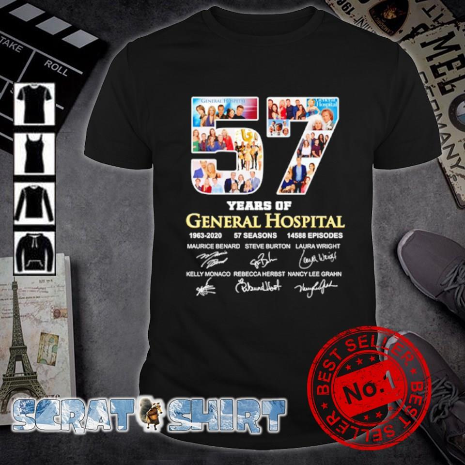 57 years of General Hospital 1963 2020 signature shirt