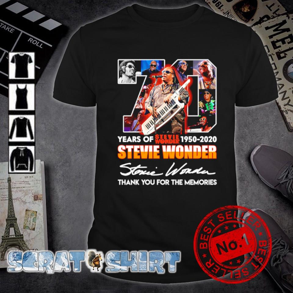 70 years of Stevie Wonder 1950 2020 thank you for the memories shirt