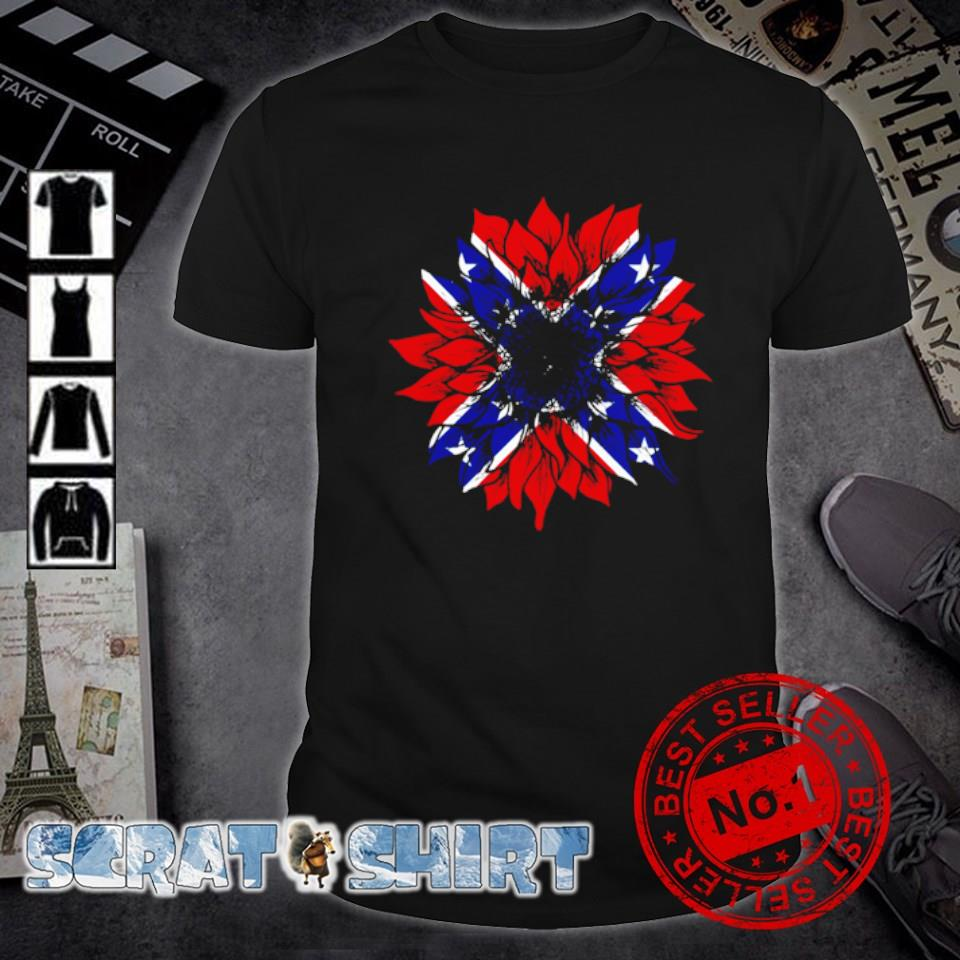 American flag Redneck Sunflower shirt