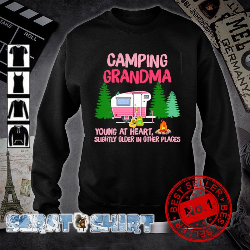 Camping Grandma young at heart slightly older in other places s sweater