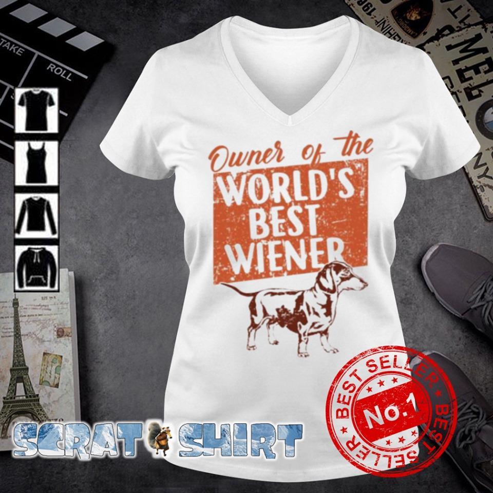 Dachshund Owner of the world's best wiener s v-neck t-shirt