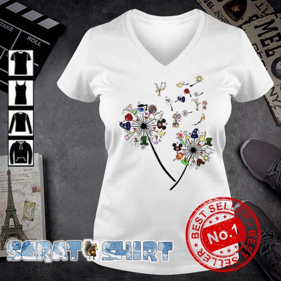 Dandelion disney character s v-neck t-shirt