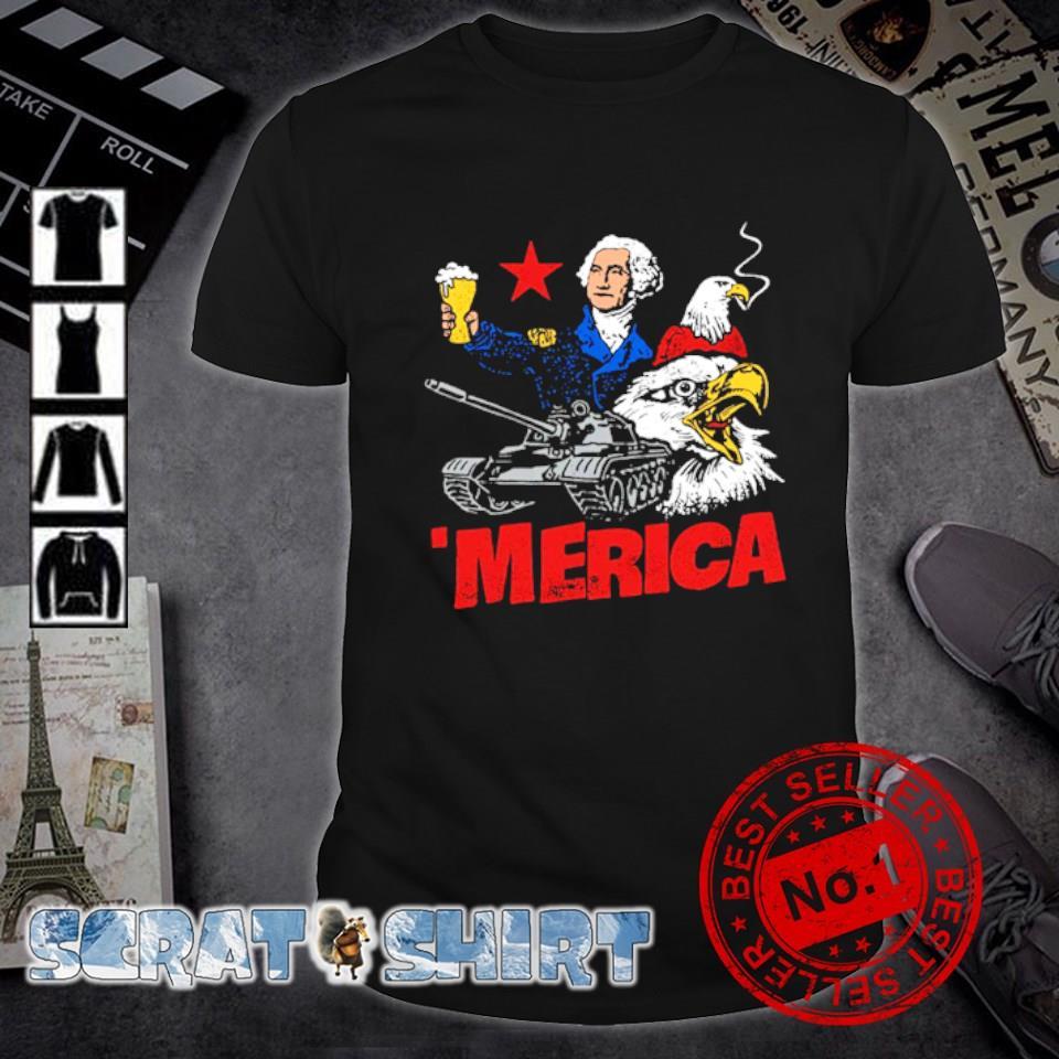 George Washington Beer Merica shirt