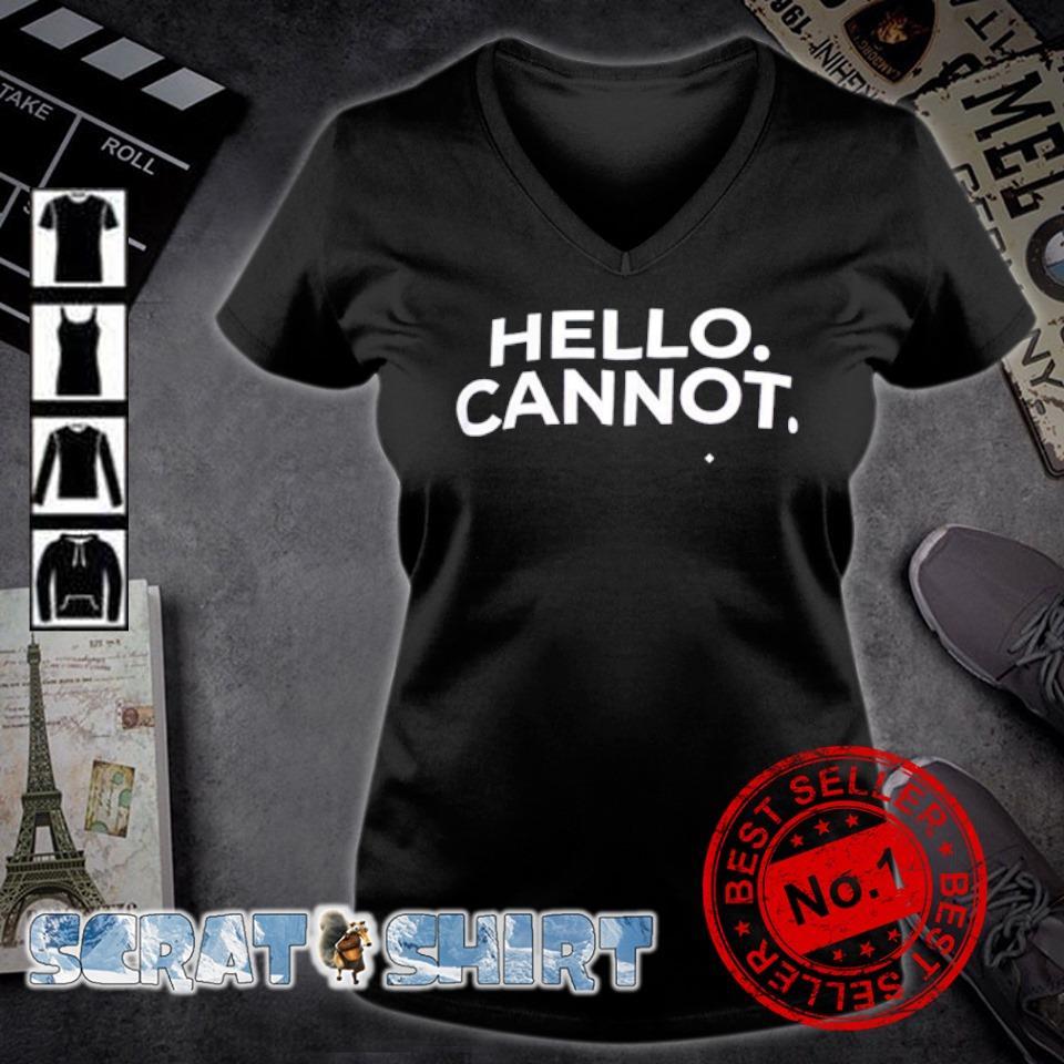Hello cannot s v-neck t-shirt