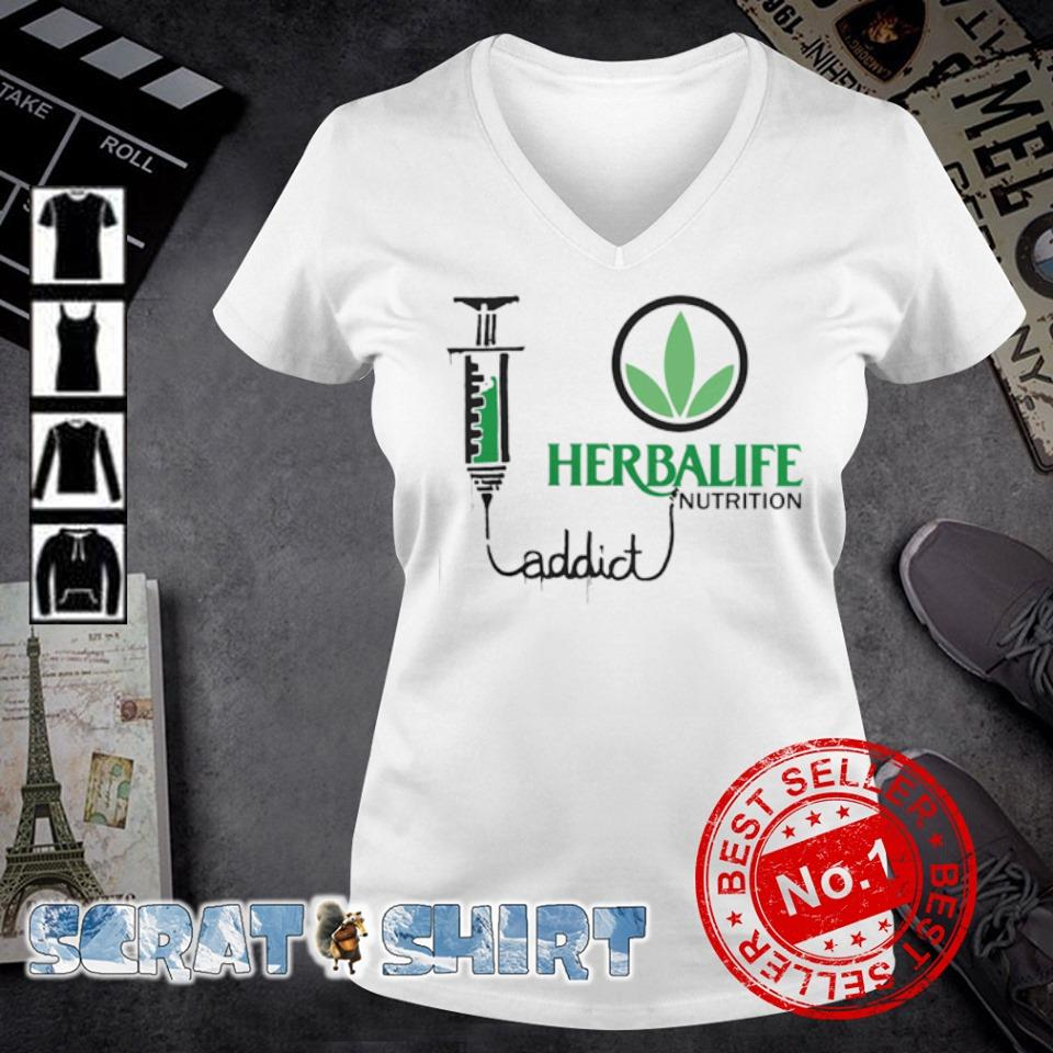 Herbalife nutrition addict s v-neck t-shirt