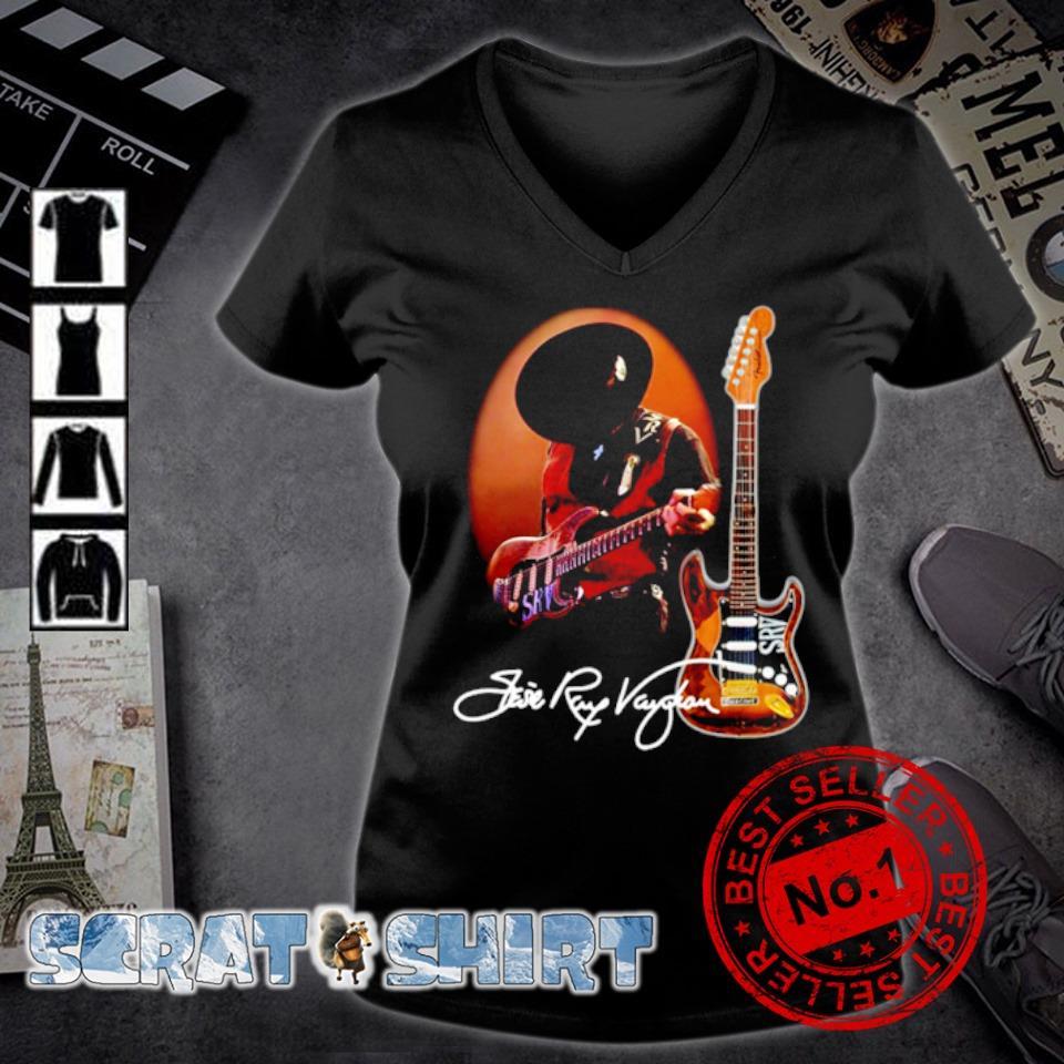 Legend Stevie-Ray-Vaughan signature s v-neck t-shirt