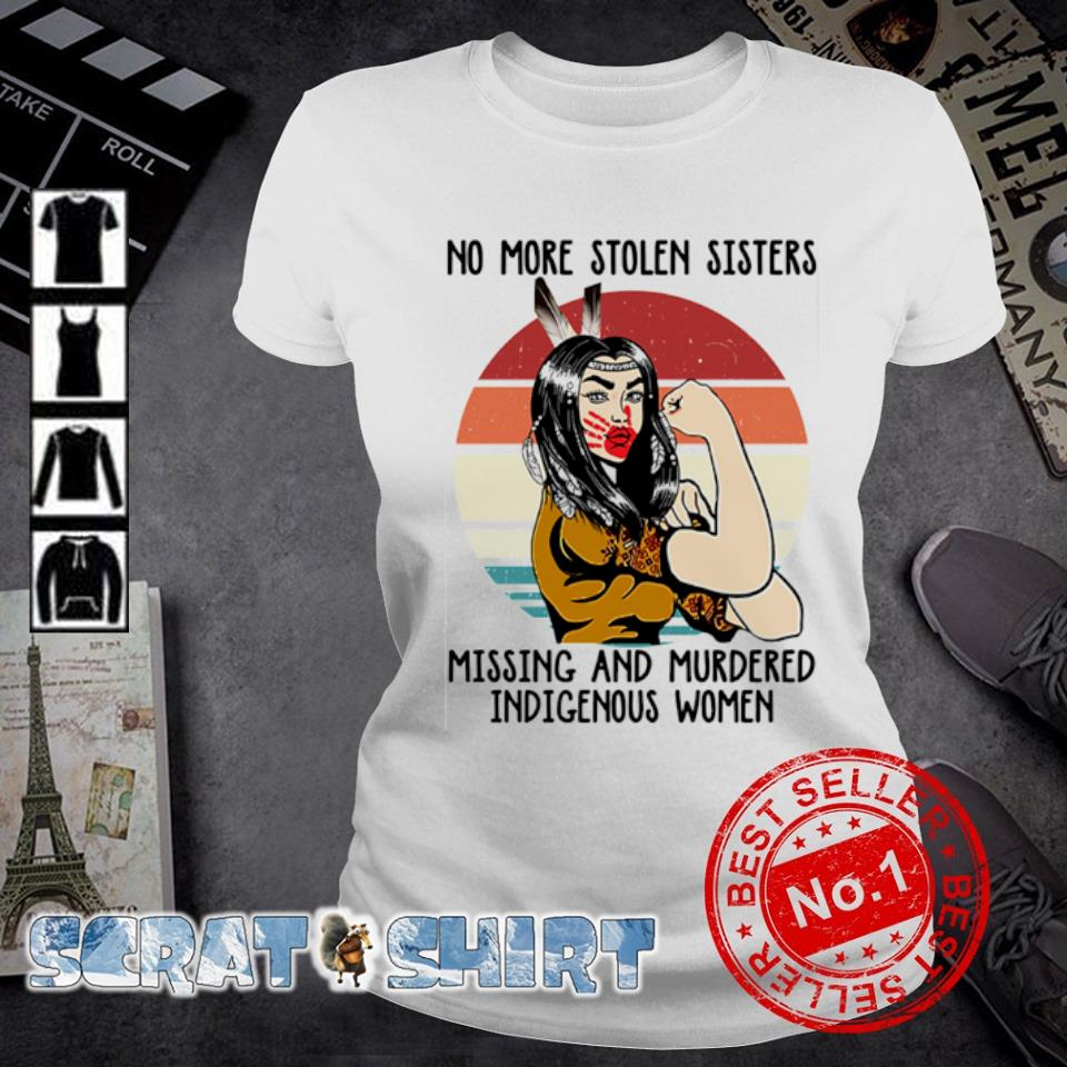 Native American No more stolen sisters missing and murdered indigenous women vintage s ladies-tee