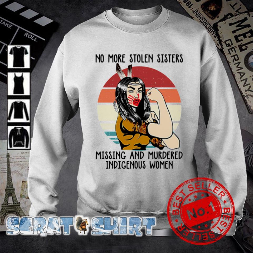 Native American No more stolen sisters missing and murdered indigenous women vintage s sweater