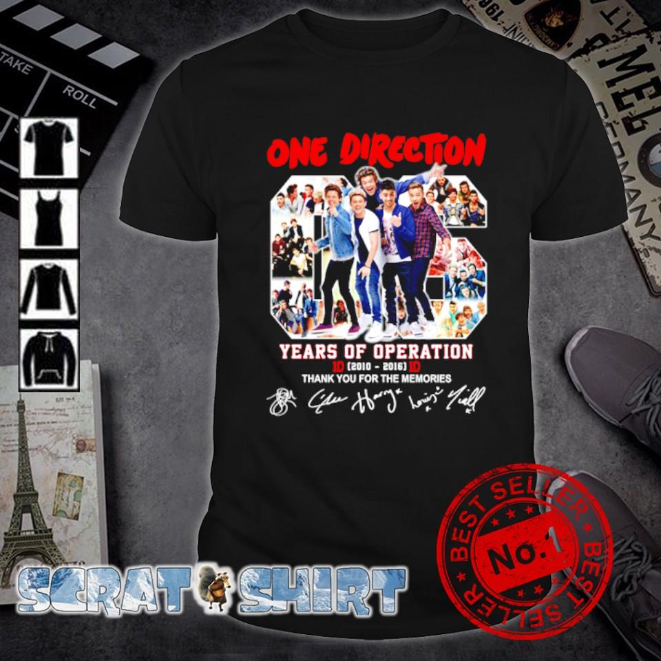One Direction 06 years of Operation thank you for the memories shirt
