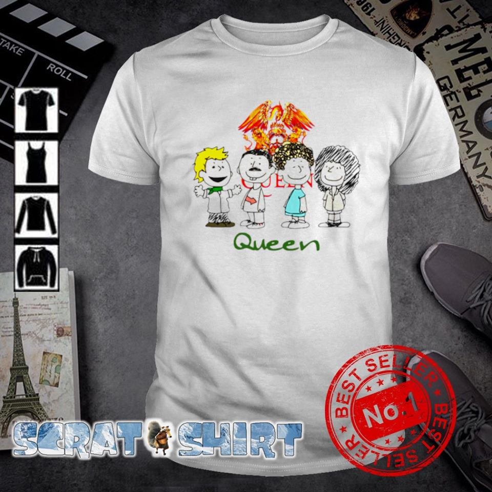 Queen band Peanuts Snoopy and friends shirt