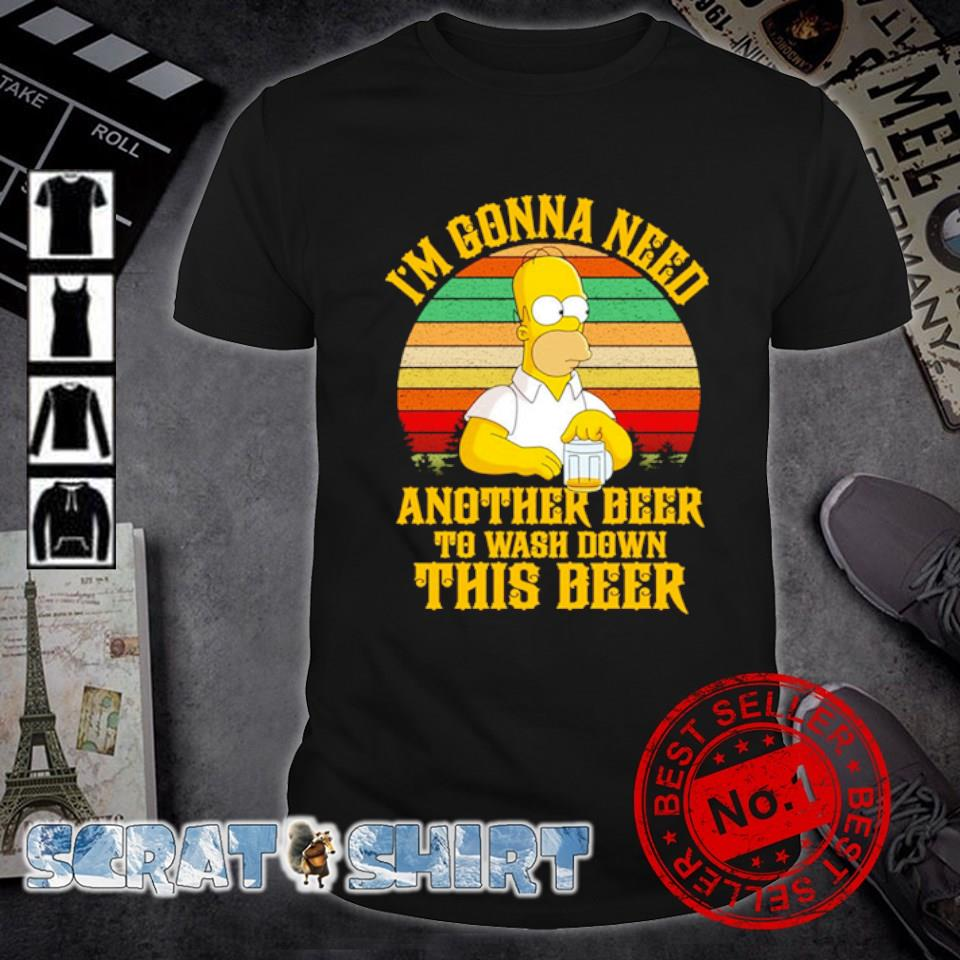 Simpson I'm gonna need another beer to wash down this beer shirt