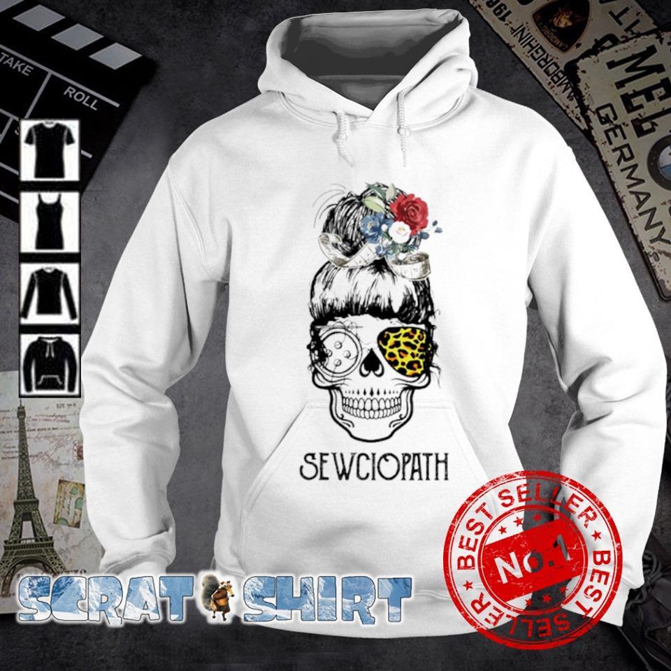 Skull girl leopard Sewing Sewciopath s hoodie