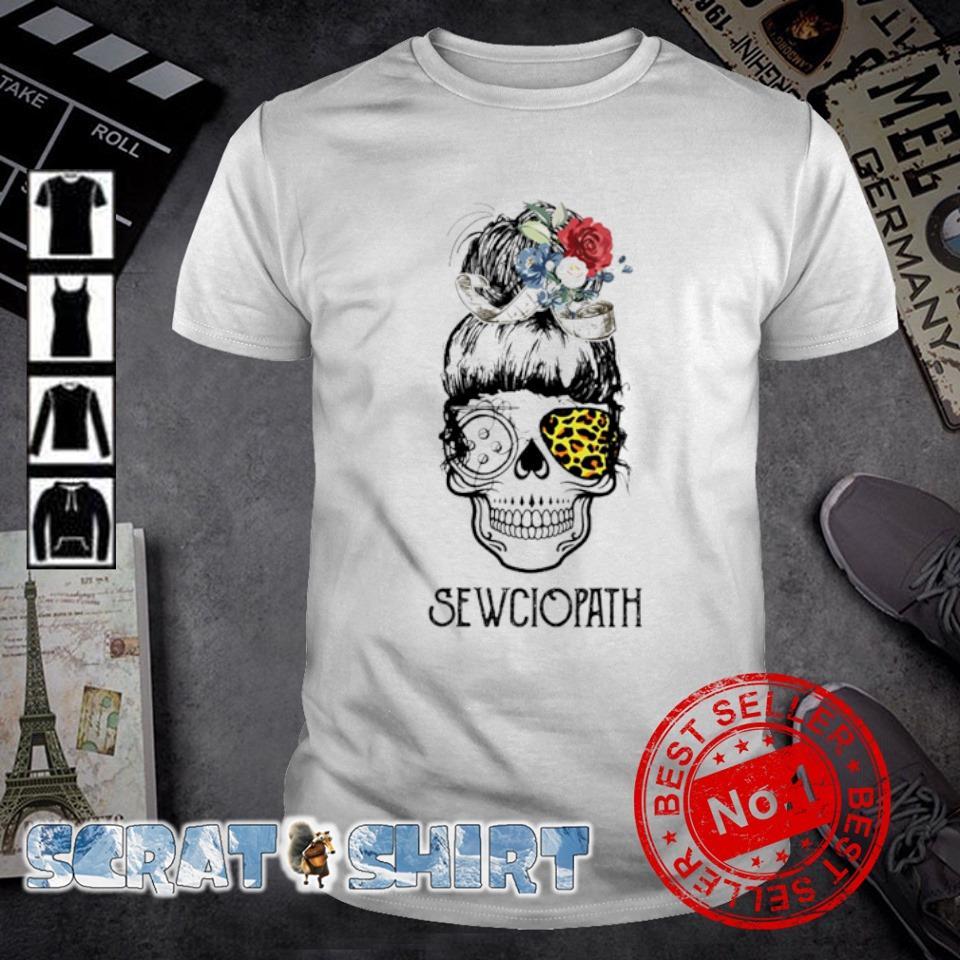 Skull girl leopard Sewing Sewciopath shirt