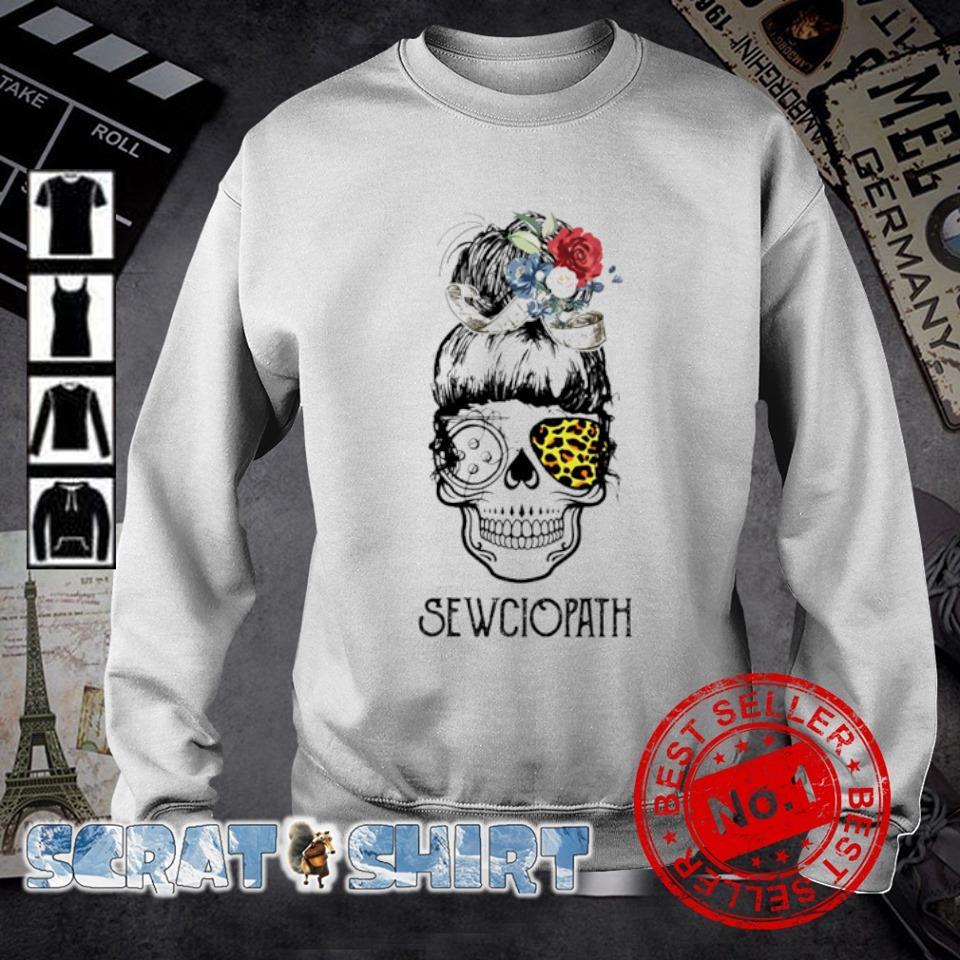 Skull girl leopard Sewing Sewciopath s sweater