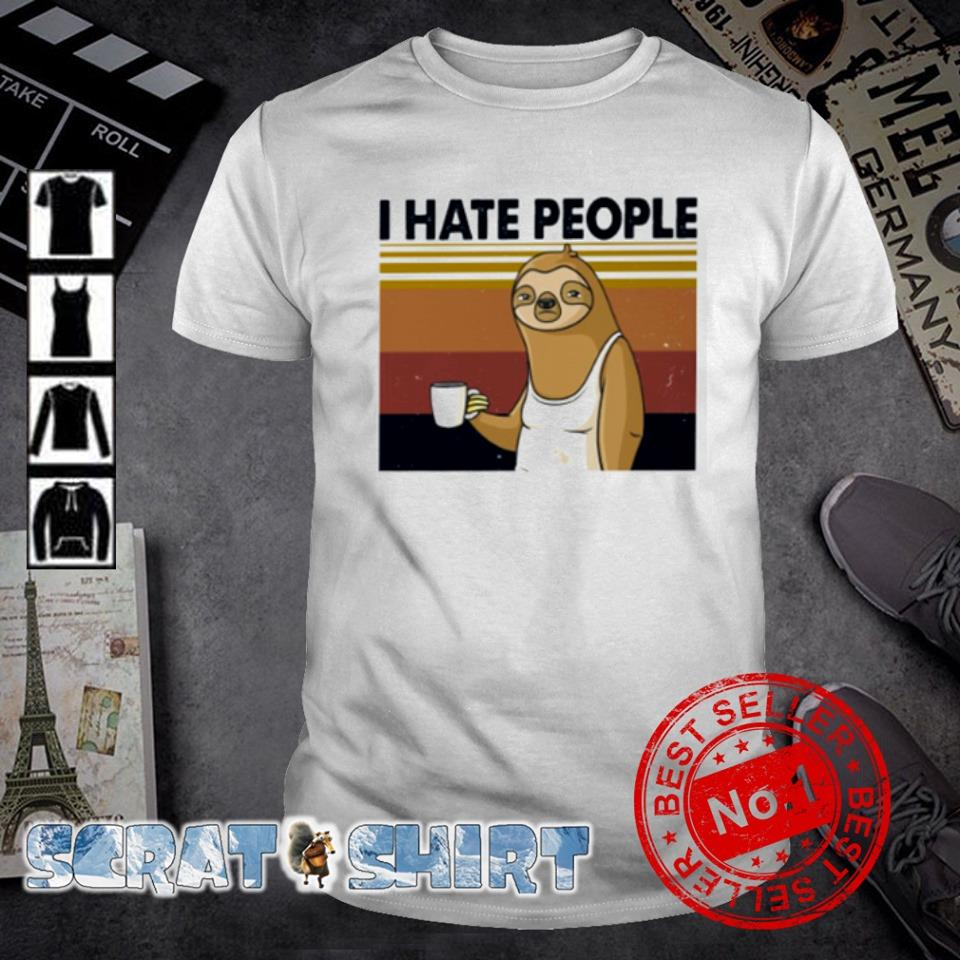 Sloth I hate people vintage shirt