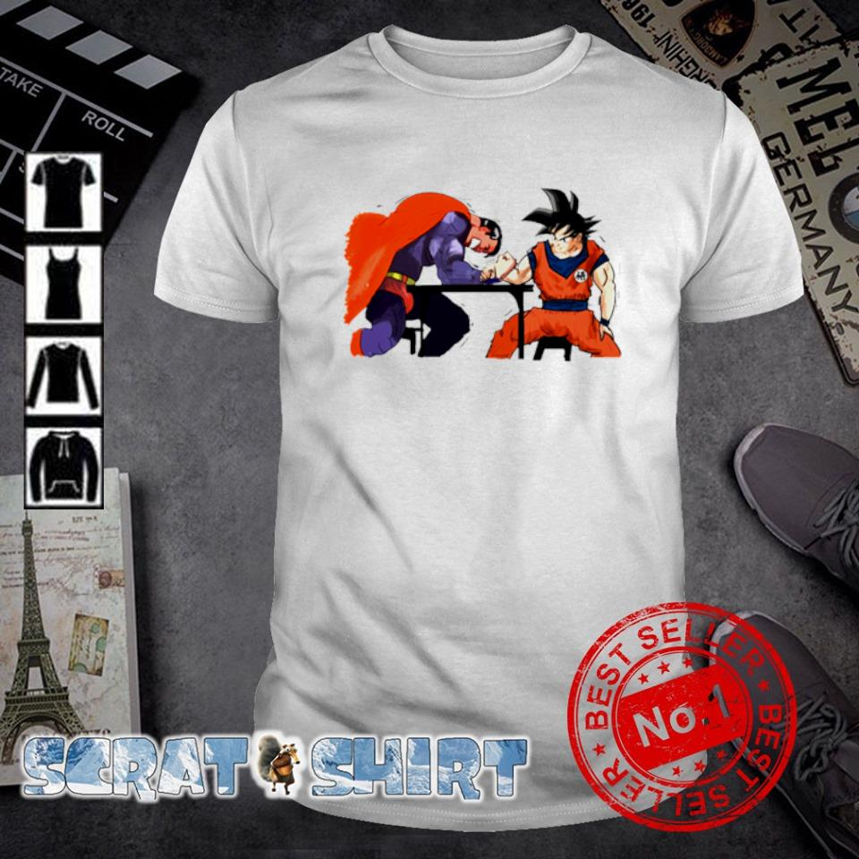 Son Goku vs Superman Arm-Wrestling shirt