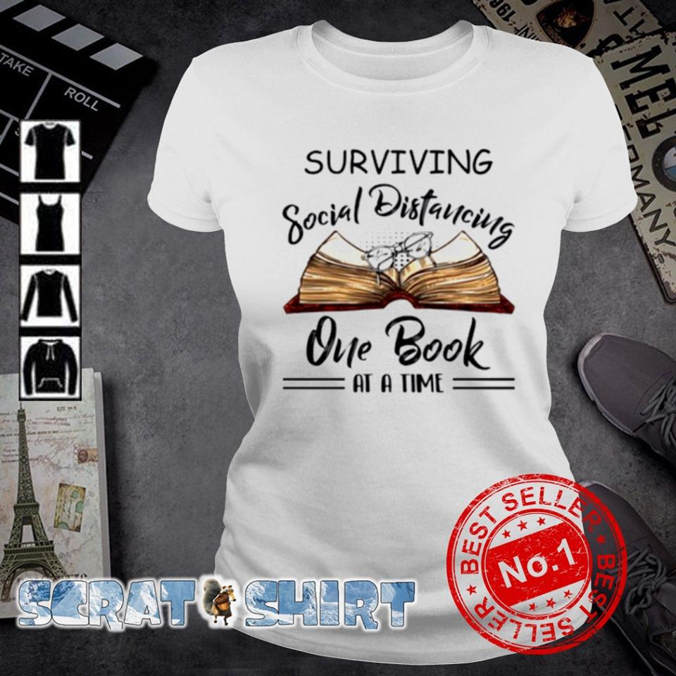 Surviving social distancing one book at a time s ladies-tee