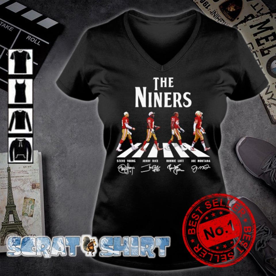 The Niners abbey road signature s v-neck t-shirt