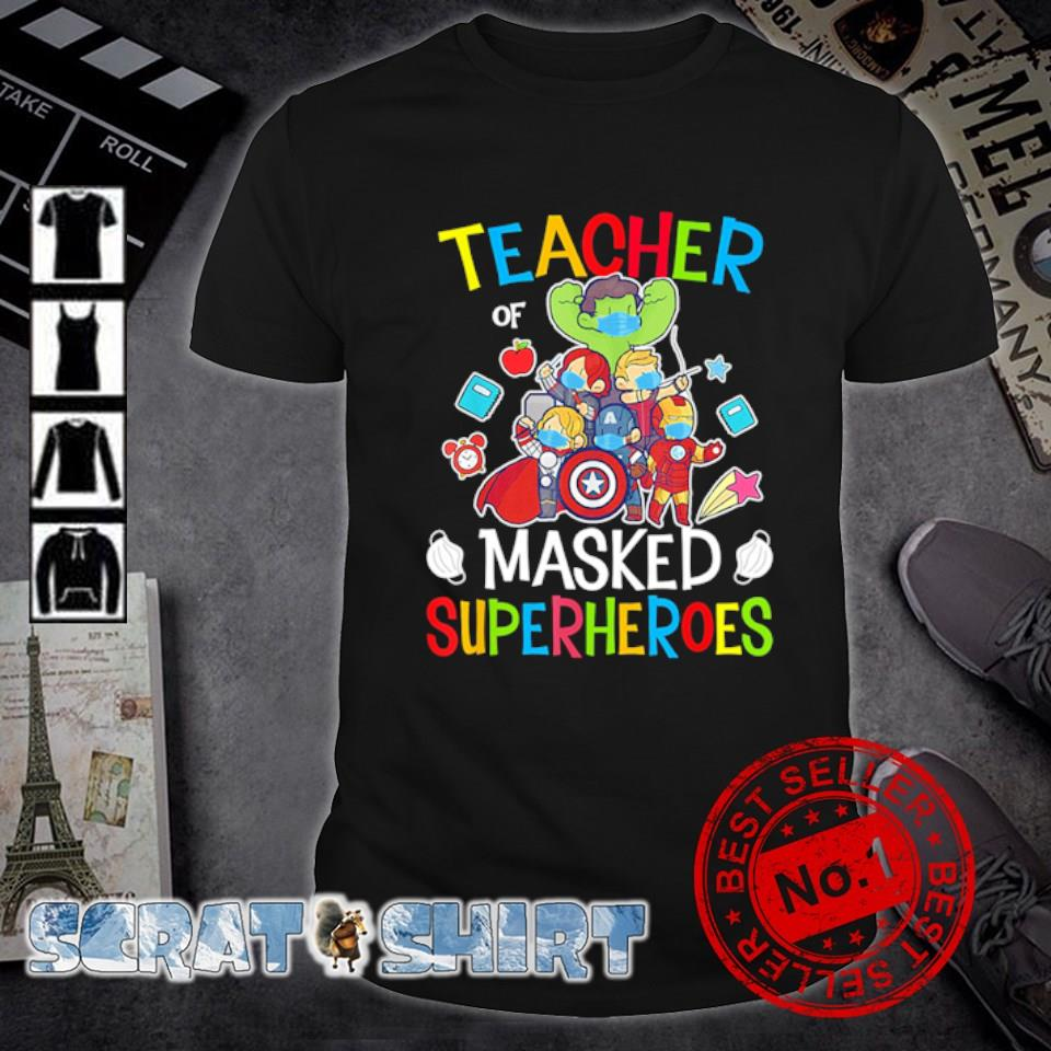 Avengers teacher of masked superheroes shirt