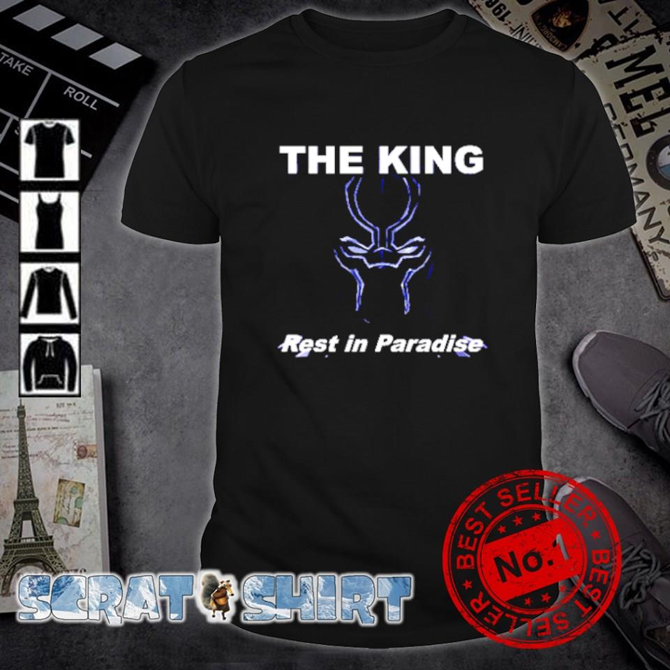 Black Panther the king rest in paradise shirt