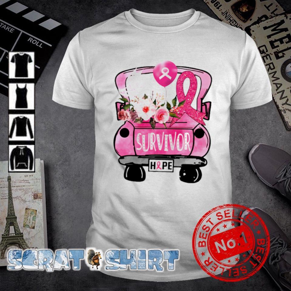 Breast cancer awareness car survivor hope shirt