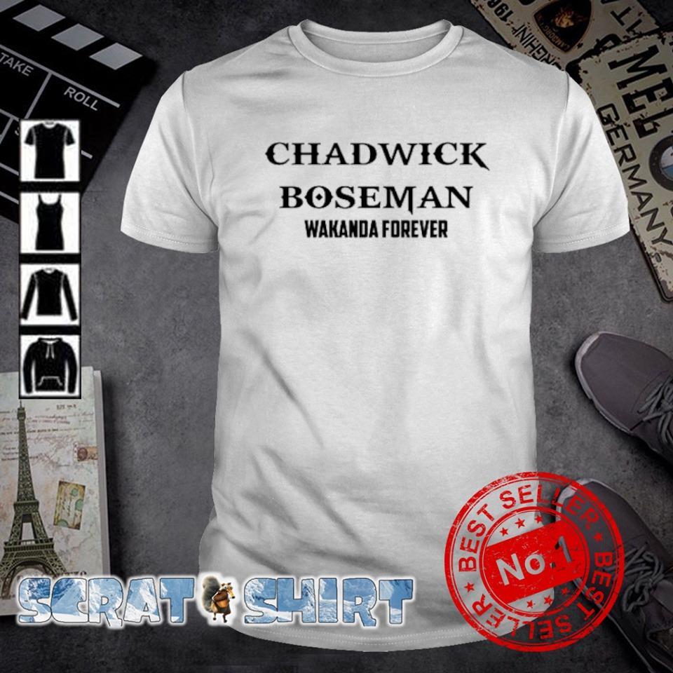 Chadwick Boseman wakanda forever shirt