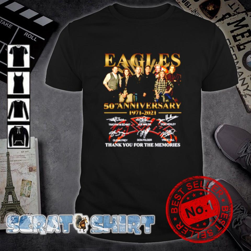 Eagles 50th Anniversary 1971 2021 thank you for the memories shirt