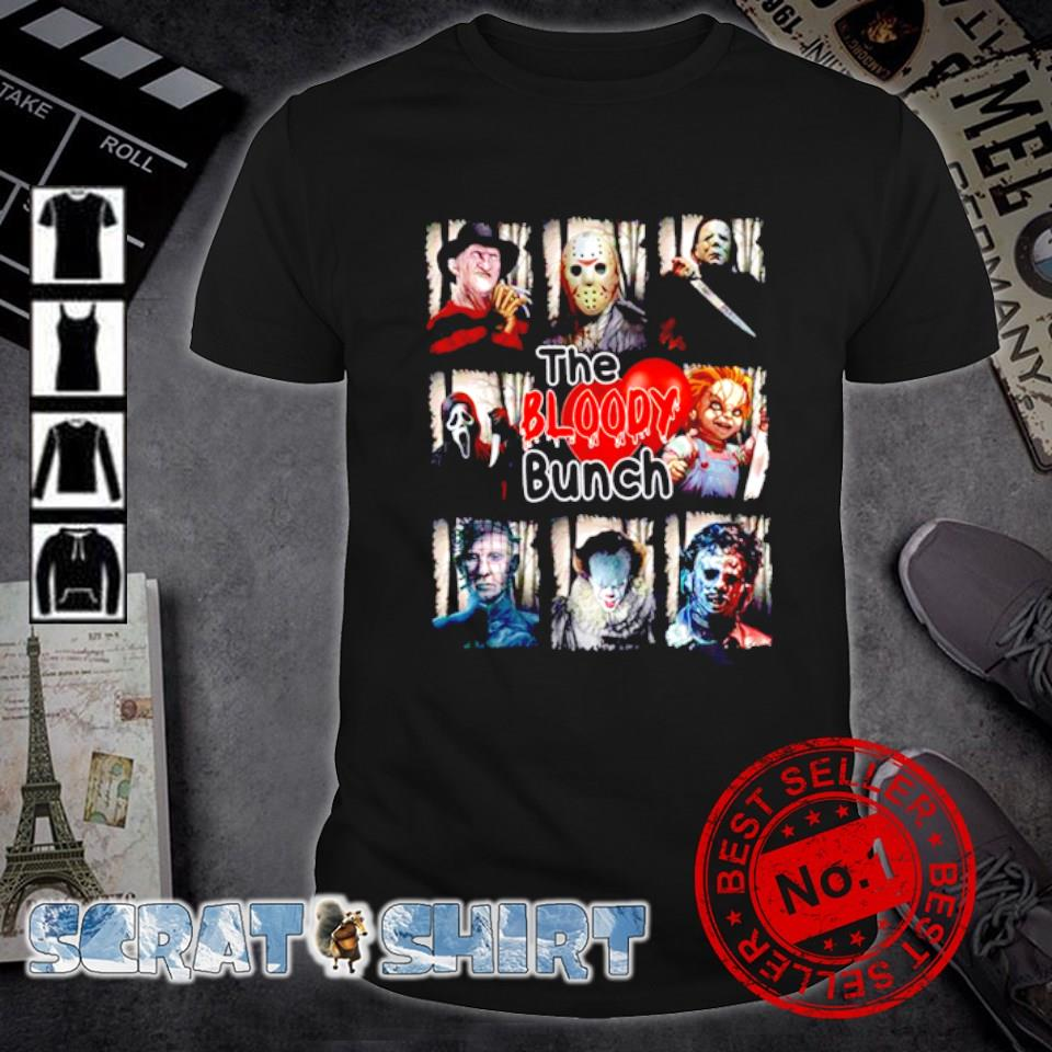 Horror movies characters the bloody bunch shirt