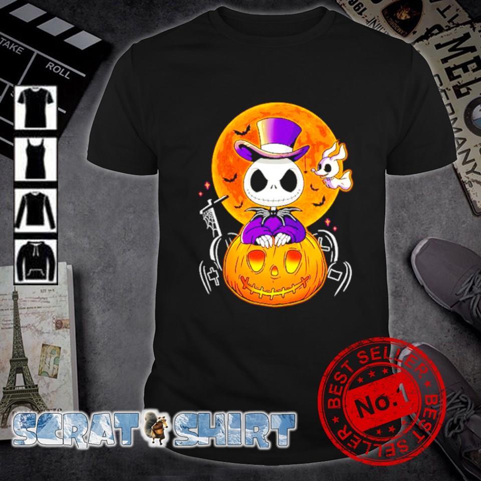Jack Skellington and zero ghost pumpkin Halloween shirt