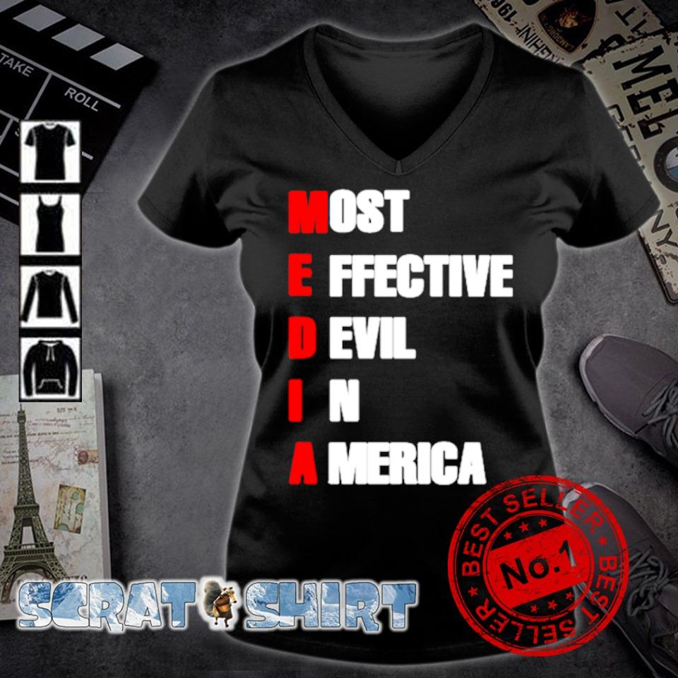 Media most effective devil in America s v-neck t-shirt
