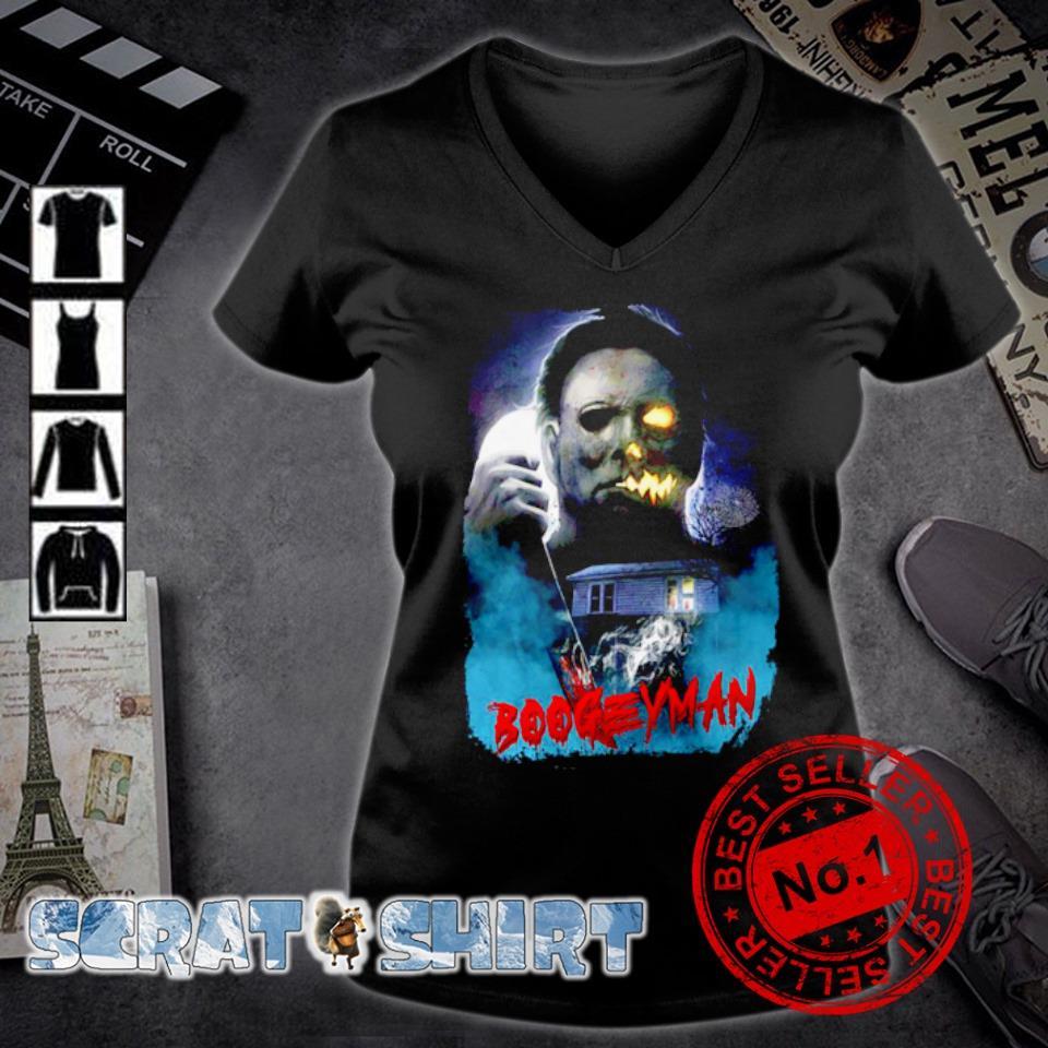 Michael Myers boogeyman Halloween s v-neck t-shirt