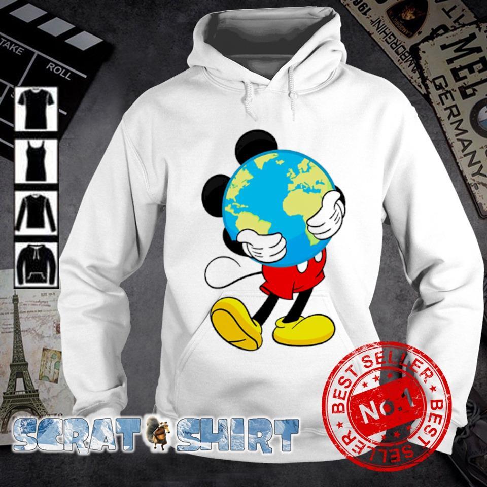 Mickey mouse hug earth s hoodie
